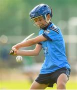 17 August 2019; Gus Lohan of Oranmore, Co Galway in action in the Hurling U11 Boys A semi-final during Day 1 of the Aldi Community Games August Festival, which saw over 3,000 children take part in a fun-filled weekend at UL Sports Arena in University of Limerick, Limerick. Photo by David Fitzgerald/Sportsfile