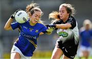 17 August 2019; Caoimhe Condon of Tipperary in action against Claire Dunne of Sligo during the TG4 All-Ireland Ladies Football Intermediate Championship Semi-Final match between Sligo and Tipperary at Nowlan Park in Kilkenny. Photo by Piaras Ó Mídheach/Sportsfile