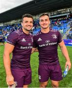 17 August 2019; Cian Kelleher, left, and brother Rónan Kelleher of Leinster following the Bank of Ireland pre-season friendly match between Leinster and Coventry at Energia Park in Donnybrook, Dublin. Photo by Seb Daly/Sportsfile