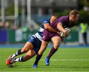 17 August 2019; Rory O'Loughlin of Leinster is tackled by Will Flinn of Coventry during the Bank of Ireland pre-season friendly match between Leinster and Coventry at Energia Park in Donnybrook, Dublin. Photo by Seb Daly/Sportsfile