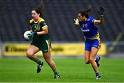 17 August 2019; Shauna Ennis of Meath in action against Natalie McHugh of Roscommon during the TG4 All-Ireland Ladies Football Intermediate Championship Semi-Final match between Meath and Roscommon at Nowlan Park in Kilkenny. Photo by Piaras Ó Mídheach/Sportsfile