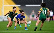 17 August 2019; Sinéad Kenny of Roscommon in action against Máire O'Shaughnessy, left, and Emma Duggan of Meath during the TG4 All-Ireland Ladies Football Intermediate Championship Semi-Final match between Meath and Roscommon at Nowlan Park in Kilkenny. Photo by Piaras Ó Mídheach/Sportsfile