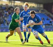 17 August 2019; Hannah O'Connorof Leinster dives over to score her side's first try during the Women's Interprovincial Rugby Championship match between Leinster and Connacht at Energia Park in Donnybrook, Dublin. Photo by Seb Daly/Sportsfile