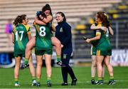 17 August 2019; Meath players Shauna Ennis and Máire O'Shaughnessy, 8, celebrate after the TG4 All-Ireland Ladies Football Intermediate Championship Semi-Final match between Meath and Roscommon at Nowlan Park in Kilkenny. Photo by Piaras Ó Mídheach/Sportsfile