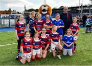 17 August 2019; Clontarf FC with Leo The Lion prior to the Bank of Ireland Half-Time Minis at the pre-season friendly match between Leinster and Coventry at Energia Park in Donnybrook, Dublin. Photo by Seb Daly/Sportsfile