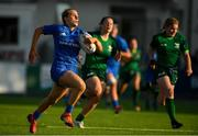 17 August 2019; Meabh O'Brien of Leinster on her way to scoring a try for her side during the Women's Interprovincial Rugby Championship match between Leinster and Connacht at Energia Park in Donnybrook, Dublin. Photo by Eóin Noonan/Sportsfile