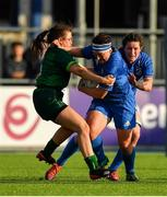 17 August 2019; Lindsay Peat of Leinster is tackled by Moya Griffin of Connacht during the Women's Interprovincial Rugby Championship match between Leinster and Connacht at Energia Park in Donnybrook, Dublin. Photo by Eóin Noonan/Sportsfile