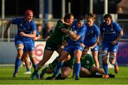 17 August 2019; Lindsay Peat of Leinster is tackled by Shannon Touhey of Connacht  during the Women's Interprovincial Rugby Championship match between Leinster and Connacht at Energia Park in Donnybrook, Dublin. Photo by Eóin Noonan/Sportsfile