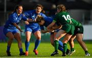 17 August 2019; Michelle Claffey of Leinster is tackled by Aoibheann Reilly of Connacht during the Women's Interprovincial Rugby Championship match between Leinster and Connacht at Energia Park in Donnybrook, Dublin. Photo by Eóin Noonan/Sportsfile