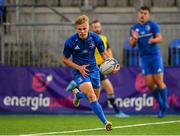 17 August 2019; Ben Murphy of Leinster on his way to scoring his side's third try during the U19 Interprovincial Rugby Championship match between Leinster and Ulster at Energia Park in Donnybrook, Dublin. Photo by Seb Daly/Sportsfile