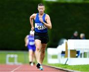 18 August 2019; Brian O'Domhnaill from Finn Valley A.C. Co Donegal on his way to winning the Men's over 35 5000m walk during the Irish Life Health National Masters Track and Field Championships at Tullamore Harriers Stadium in Tullamore, Co Offaly. Photo by Matt Browne/Sportsfile