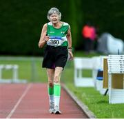 18 August 2019; Pam Reynolds-Reilly from St. Andrews A.C., Co Meath who won the Ladies' Over-70 3000m walk during the Irish Life Health National Masters Track and Field Championships at Tullamore Harriers Stadium in Tullamore, Co Offaly. Photo by Matt Browne/Sportsfile