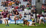 18 August 2019; Shane Morgan of Galway is tackled by James Aylward of Kilkenny during the Electric Ireland GAA Hurling All-Ireland Minor Championship Final match between Kilkenny and Galway at Croke Park in Dublin. Photo by Eóin Noonan/Sportsfile