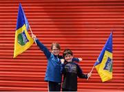 18 August 2019; Tipperary supporters Lauren Connolly, aged 10, and Cian Connolly, aged 6, from Fethard, Co Tipperary, ahead of the GAA Hurling All-Ireland Senior Championship Final match between Kilkenny and Tipperary at Croke Park in Dublin. Photo by Daire Brennan/Sportsfile