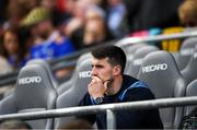 18 August 2019; Injured Tipperary player Patrick 'Bonner' Maher on the Tipperary substitutes bench ahead of the GAA Hurling All-Ireland Senior Championship Final match between Kilkenny and Tipperary at Croke Park in Dublin. Photo by Eóin Noonan/Sportsfile