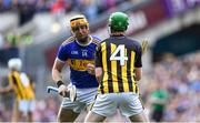 18 August 2019; Séamus Callanan of Tipperary and Joey Holden of Kilkenny tussle prior to the start of the GAA Hurling All-Ireland Senior Championship Final match between Kilkenny and Tipperary at Croke Park in Dublin. Photo by Brendan Moran/Sportsfile