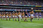 18 August 2019; Kilkenny captain, TJ Reid leads the team during the parade, prior to the GAA Hurling All-Ireland Senior Championship Final match between Kilkenny and Tipperary at Croke Park in Dublin. Photo by Sam Barnes/Sportsfile