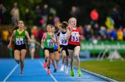 18 August 2019; Grainne Moran of St Josephs, Co Louth on her way to winning the Girls U12 600m final during Day 2 of the Aldi Community Games August Festival, which saw over 3,000 children take part in a fun-filled weekend at UL Sports Arena in University of Limerick, Limerick. Photo by David Fitzgerald/Sportsfile