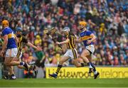 18 August 2019; TJ Reid of Kilkenny is tackled by Barry Heffernan of Tipperary during the GAA Hurling All-Ireland Senior Championship Final match between Kilkenny and Tipperary at Croke Park in Dublin. Photo by Eóin Noonan/Sportsfile