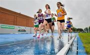 18 August 2019; A general view of runners during the girls U16 1500m during Day 2 of the Aldi Community Games August Festival, which saw over 3,000 children take part in a fun-filled weekend at UL Sports Arena in University of Limerick, Limerick. Photo by David Fitzgerald/Sportsfile