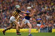 18 August 2019; Padraic Maher of Tipperary is tackled by Paddy Deegan of Kilkenny during the GAA Hurling All-Ireland Senior Championship Final match between Kilkenny and Tipperary at Croke Park in Dublin. Photo by Brendan Moran/Sportsfile