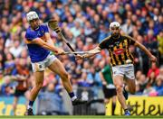 18 August 2019; Niall O'Meara of Tipperary shoots to score his side's first goal despite the tackle of Conor Fogarty of Kilkenny during the GAA Hurling All-Ireland Senior Championship Final match between Kilkenny and Tipperary at Croke Park in Dublin. Photo by Brendan Moran/Sportsfile