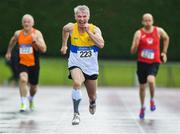 18 August 2019; Pat Logan from St Annes AC Belfast who won the mens over 55's 200m during the Irish Life Health National Masters Track and Field Championships at Tullamore Harriers Stadium in Tullamore, Co Offaly. Photo by Matt Browne/Sportsfile
