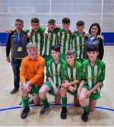 18 August 2019; The Killoe, Co Longford team after the U15 Futsal final during Day 2 of the Aldi Community Games August Festival, which saw over 3,000 children take part in a fun-filled weekend at UL Sports Arena in University of Limerick, Limerick. Photo by David Fitzgerald/Sportsfile