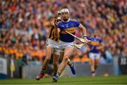 18 August 2019; Padraic Maher of Tipperary in action against Paddy Deegan of Kilkenny during the GAA Hurling All-Ireland Senior Championship Final match between Kilkenny and Tipperary at Croke Park in Dublin. Photo by Seb Daly/Sportsfile