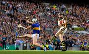18 August 2019; Walter Walsh of Kilkenny has his shots blocked by Padraic Maher of Tipperary during the GAA Hurling All-Ireland Senior Championship Final match between Kilkenny and Tipperary at Croke Park in Dublin. Photo by Brendan Moran/Sportsfile