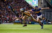 18 August 2019; Huw Lawlor of Kilkenny in action against John McGrath of Tipperary during the GAA Hurling All-Ireland Senior Championship Final match between Kilkenny and Tipperary at Croke Park in Dublin. Photo by Sam Barnes/Sportsfile