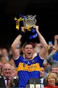 18 August 2019; Tipperary captain Séamus Callanan lifts the Liam MacCarthy cup after the GAA Hurling All-Ireland Senior Championship Final match between Kilkenny and Tipperary at Croke Park in Dublin. Photo by Seb Daly/Sportsfile