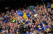 18 August 2019; Tipperary captain Séamus Callanan lifts the Liam MacCarthy cup after the GAA Hurling All-Ireland Senior Championship Final match between Kilkenny and Tipperary at Croke Park in Dublin. Photo by Eóin Noonan/Sportsfile