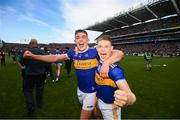 18 August 2019; Ronan Maher, left, with Donagh Maher of Tipperary celebrate their victory following the GAA Hurling All-Ireland Senior Championship Final match between Kilkenny and Tipperary at Croke Park in Dublin. Photo by Stephen McCarthy/Sportsfile