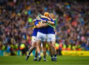 18 August 2019; Jake Morris of Tipperary celebrates with Jason Forde of Tipperary, left, and Séamus Callanan of Tipperary, center, after the GAA Hurling All-Ireland Senior Championship Final match between Kilkenny and Tipperary at Croke Park in Dublin. Photo by Eóin Noonan/Sportsfile