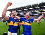 18 August 2019; Padraic Maher of Tipperary , left, and Seán O'Brien of Tipperary after the GAA Hurling All-Ireland Senior Championship Final match between Kilkenny and Tipperary at Croke Park in Dublin. Photo by Eóin Noonan/Sportsfile