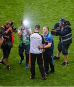 18 August 2019; Tipperary manager Liam Sheedy shakes hands with Kilkenny manager Brian Cody after the GAA Hurling All-Ireland Senior Championship Final match between Kilkenny and Tipperary at Croke Park in Dublin. Photo by Daire Brennan/Sportsfile