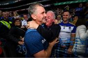 18 August 2019; Tipperary manager Liam Sheedy, left, with his brother, Mike Sheedy following the GAA Hurling All-Ireland Senior Championship Final match between Kilkenny and Tipperary at Croke Park in Dublin. Photo by Stephen McCarthy/Sportsfile