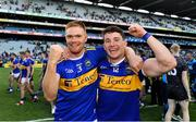 18 August 2019; Jason Forde, left, and Niall O'Meara of Tipperary celebrate following the GAA Hurling All-Ireland Senior Championship Final match between Kilkenny and Tipperary at Croke Park in Dublin. Photo by Sam Barnes/Sportsfile