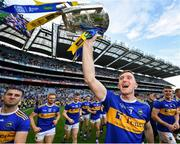 18 August 2019; Séamus Kennedy of Tipperary celebrates with the Liam MacCarthy cup following the GAA Hurling All-Ireland Senior Championship Final match between Kilkenny and Tipperary at Croke Park in Dublin. Photo by Seb Daly/Sportsfile
