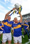 18 August 2019; Séamus Callanan, left, and Jason Forde of Tipperary celebrate with the Liam MacCarthy cup following the GAA Hurling All-Ireland Senior Championship Final match between Kilkenny and Tipperary at Croke Park in Dublin. Photo by Seb Daly/Sportsfile