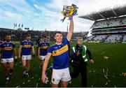 18 August 2019; Ronan Maher of Tipperary celebrates with the Liam MacCarthy cup following the GAA Hurling All-Ireland Senior Championship Final match between Kilkenny and Tipperary at Croke Park in Dublin. Photo by Stephen McCarthy/Sportsfile