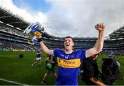 18 August 2019; Tipperary captain Séamus Callanan, celebrates with the Liam MacCarthy cup, after the GAA Hurling All-Ireland Senior Championship Final match between Kilkenny and Tipperary at Croke Park in Dublin. Photo by Stephen McCarthy/Sportsfile