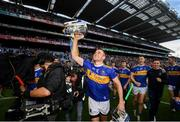 18 August 2019; John McGrath of Tipperary celebrates with the Liam MacCarthy cup after the GAA Hurling All-Ireland Senior Championship Final match between Kilkenny and Tipperary at Croke Park in Dublin. Photo by Stephen McCarthy/Sportsfile