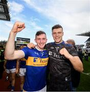 18 August 2019; Séamus Kennedy, left, with Brian Hogan of Tipperary, celebrating following, the GAA Hurling All-Ireland Senior Championship Final match between Kilkenny and Tipperary at Croke Park in Dublin. Photo by Stephen McCarthy/Sportsfile