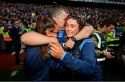 18 August 2019; Tipperary manager Liam Sheedy celebrates with daughters Gemma, left, and Aisling following the GAA Hurling All-Ireland Senior Championship Final match between Kilkenny and Tipperary at Croke Park in Dublin. Photo by Stephen McCarthy/Sportsfile