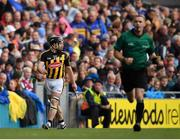 18 August 2019; Richie Hogan of Kilkenny leaves the field after being shown a red card by referee James Owens during the GAA Hurling All-Ireland Senior Championship Final match between Kilkenny and Tipperary at Croke Park in Dublin. Photo by Seb Daly/Sportsfile