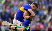 18 August 2019; Ronan Maher, left, and Jake Morris of Tipperary celebrate after the final whistle of the GAA Hurling All-Ireland Senior Championship Final match between Kilkenny and Tipperary at Croke Park in Dublin. Photo by Brendan Moran/Sportsfile
