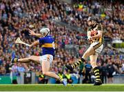 18 August 2019; Walter Walsh of Kilkenny see his shot blocked by Padraic Maher of Tipperary during the GAA Hurling All-Ireland Senior Championship Final match between Kilkenny and Tipperary at Croke Park in Dublin. Photo by Seb Daly/Sportsfile