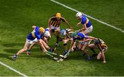 18 August 2019; Tipperary players, left to right, Ronan Maher, Brendan Maher, Cathal Barrett, Padraic Maher in action against Kilkenny players, left to right, Billy Ryan, TJ Reid, and Walter Walsh during the GAA Hurling All-Ireland Senior Championship Final match between Kilkenny and Tipperary at Croke Park in Dublin. Photo by Daire Brennan/Sportsfile
